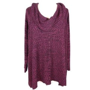 Catherines Marled Knit Cowl Neck Sweater